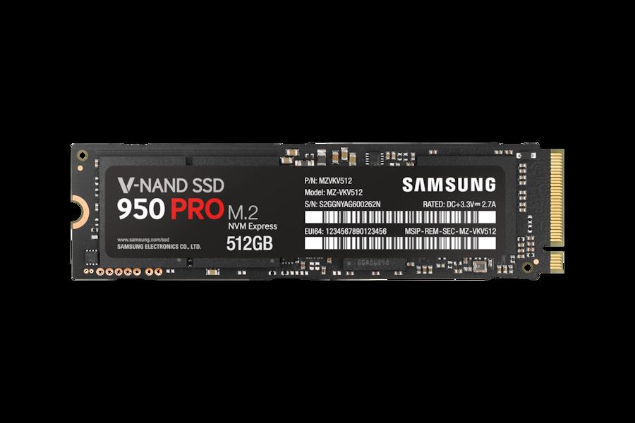 950 PRO NVMe M.2 SSD VKV512 Front black