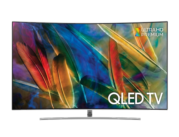 Curved QLED TV QE55Q8C front