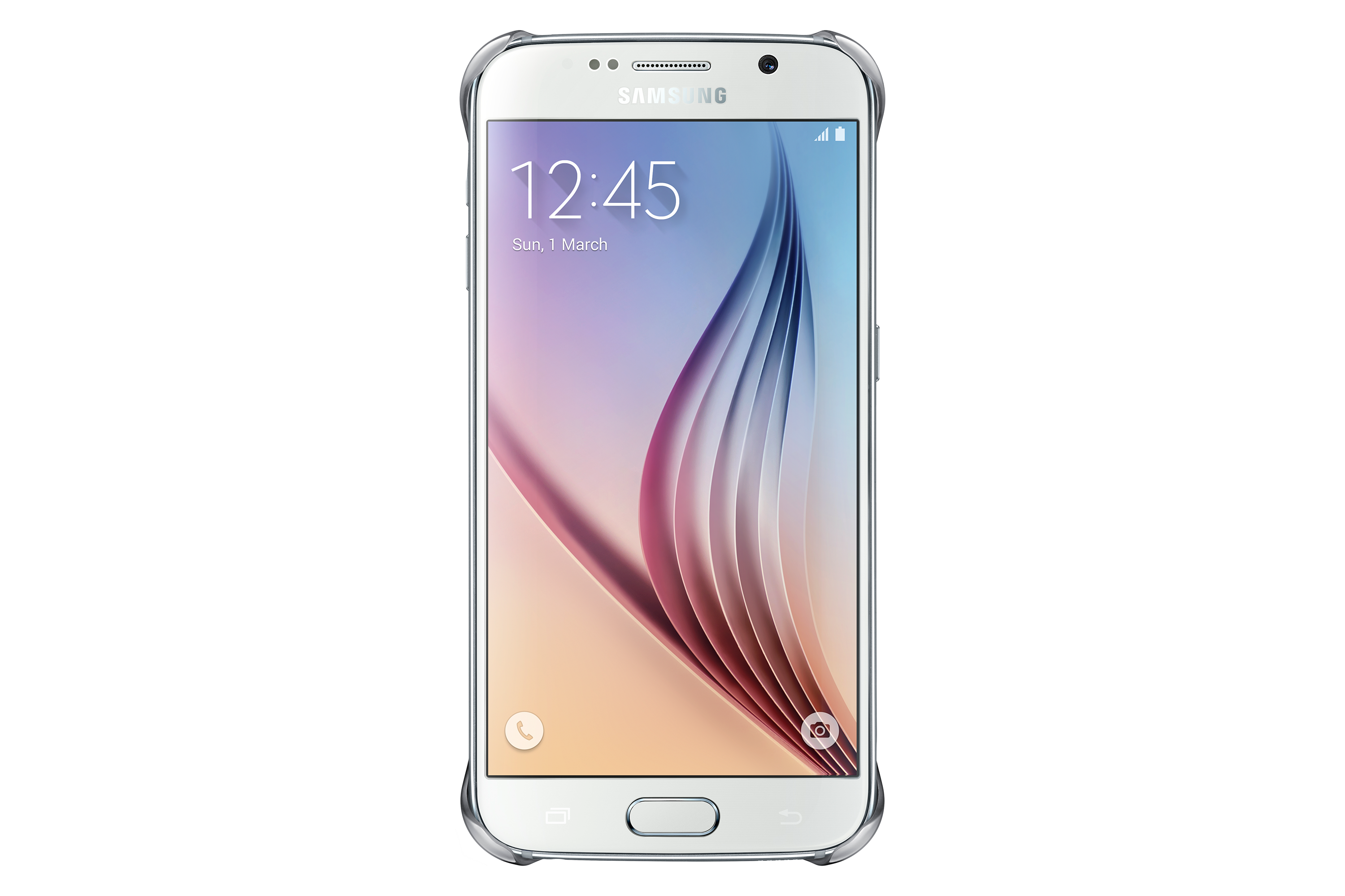 Clear Cover Galaxy S6 Silver