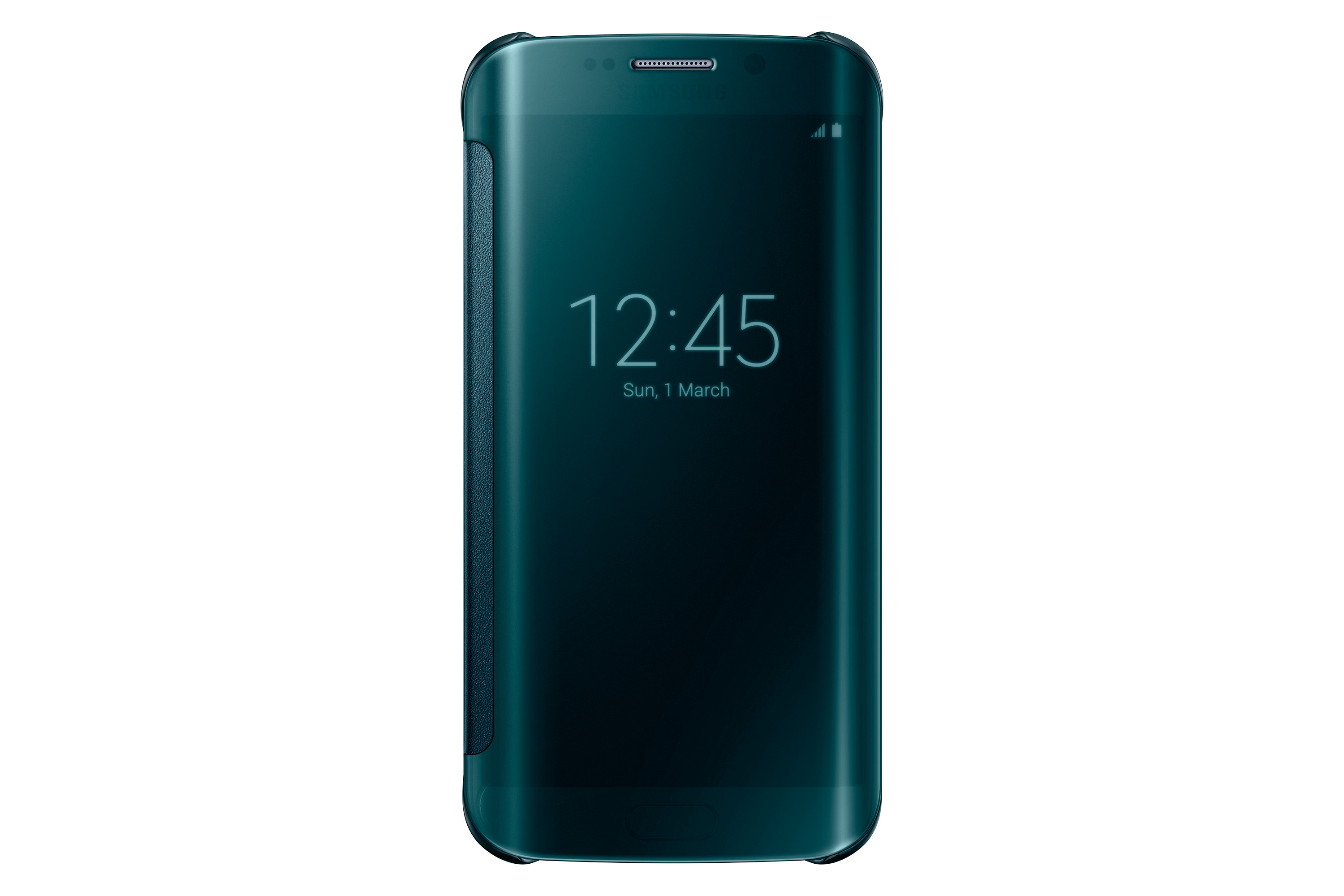 Clear View Cover Galaxy S6 edge Green