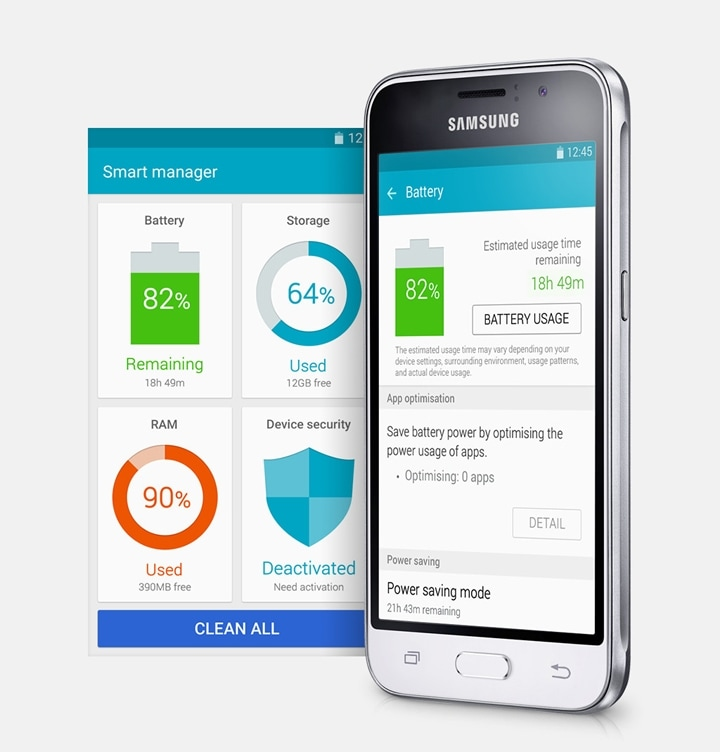 galaxy j1 Smart Manager