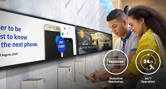 Maximize space and optimize content with Samsung SMART Signage solutions