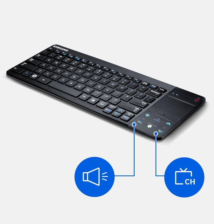 VG-KBD1000 Smart TV Wireless Bluetooth Keyboard télécommande remote