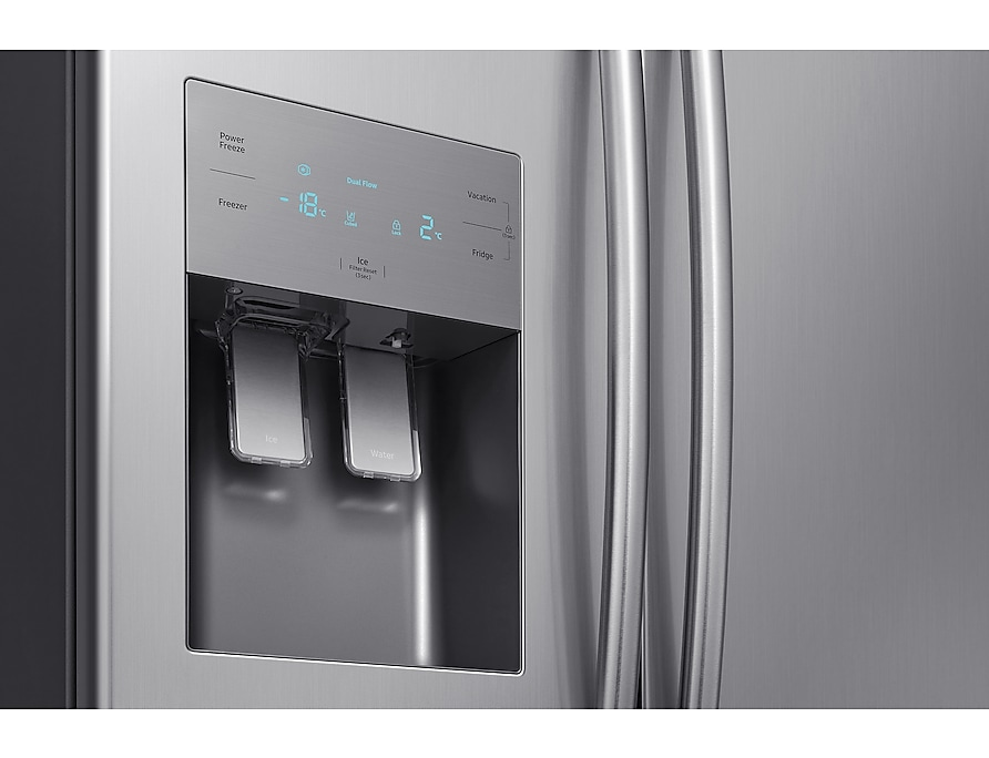 Samsung Refrigerador Side by Side RS50N Detalhe Inox Look RS50N3413S8/BZ