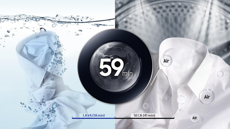 Lava e Seca em 59 minutos