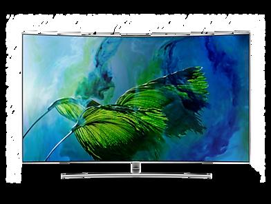 "QLED TV Q8C 65"" UHD 4K, Curva, Tela de Pontos Quânticos, HDR1500, Controle Remoto Único"