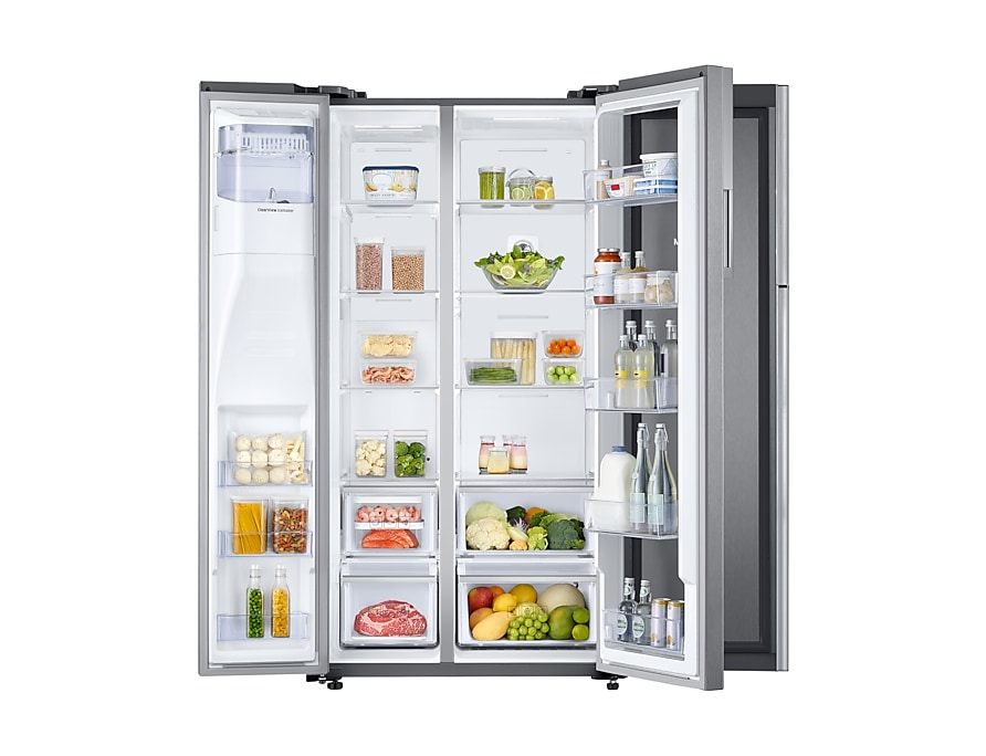 Refrigerador Samsung Side By Side RH58K Food ShowCase 575 L Detalhe Inox Look RH58K6567SL/AZ