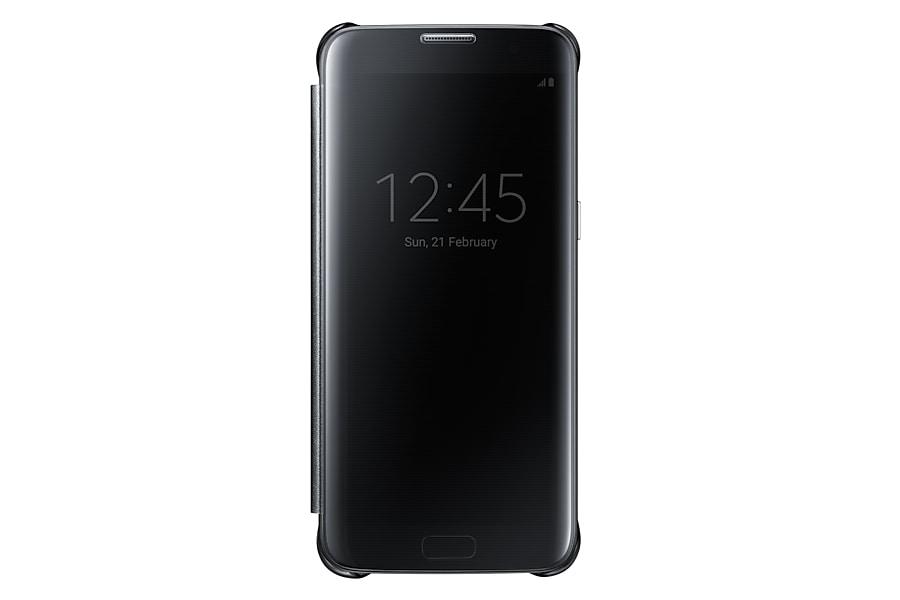 EF-ZG935 Samsung Capa Clear View Galaxy S7 edge PRETO