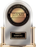 Samsung ranks highest in customer satisfaction with ranges/cooktops/ovens, french door refrigerators (in a tie), over-the-range microwaves and front load washers. For J.D. Power and Associates award information, please visit jdpower.com
