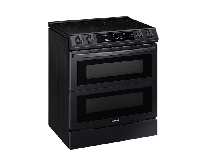 6 3 Cu Ft Electric Range With Flex Duo And Air Fry In Black Stainless Steel Samsung Canada