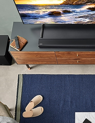 There is a TV on the table.