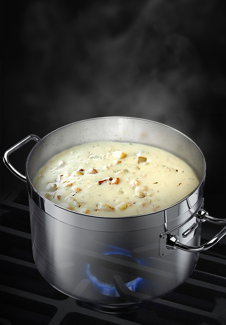 Simmer & keep food warm without burning