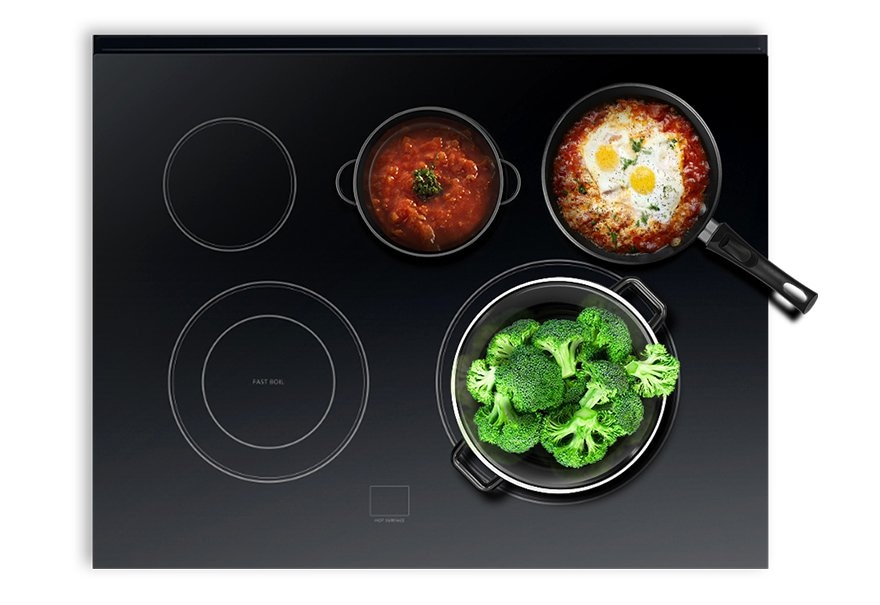 Five Burner Cooktop for Ultimate Flexibility