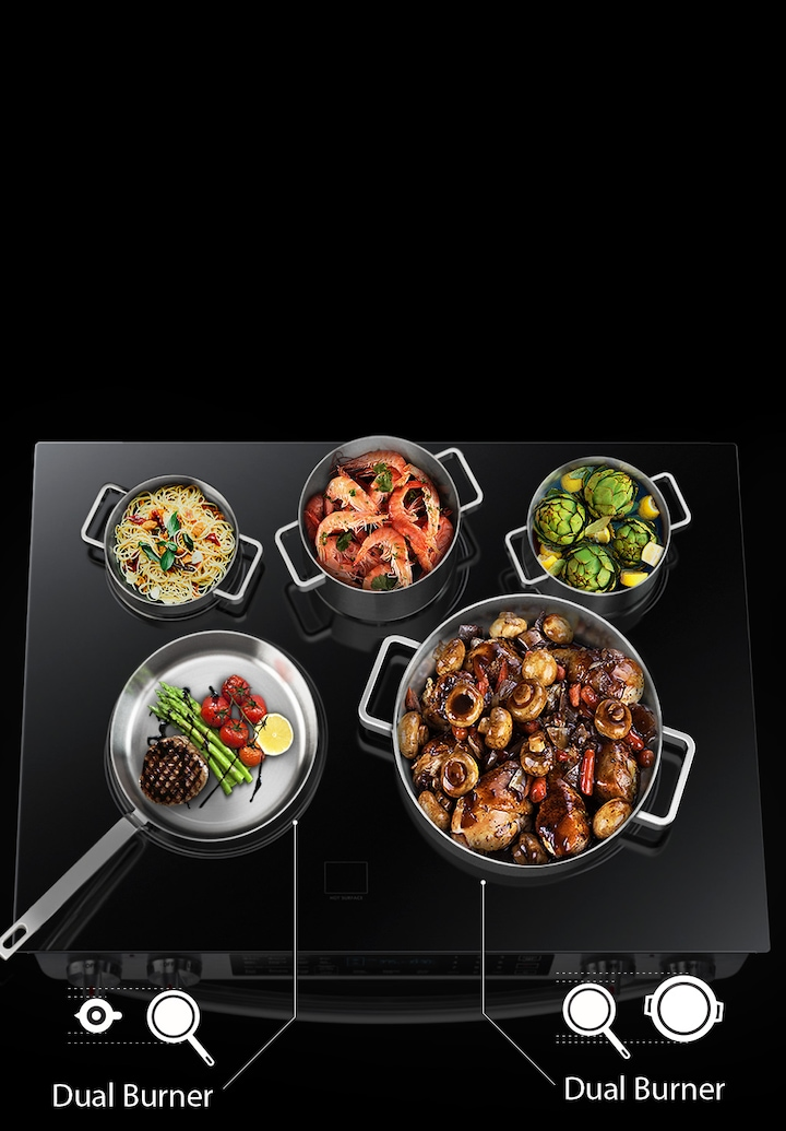 Enhanced cooking control & flexibility