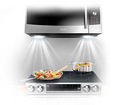 Mc17f808kdt Over The Range Microwave With Slim Fry 1 7