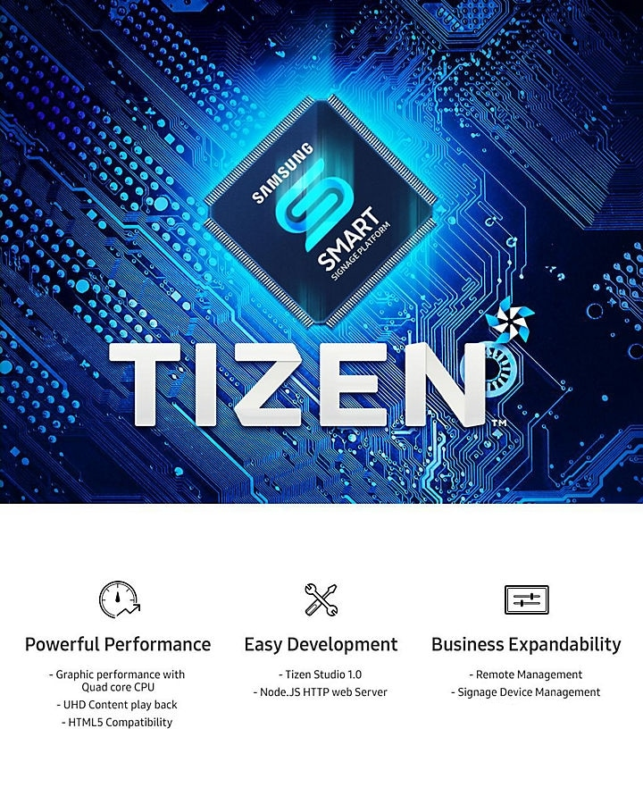 Enjoy Operational Flexibility with the TIZEN OS