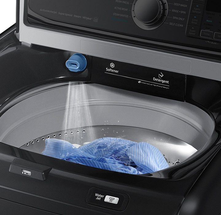 Thoroughly rinse clothes with less water