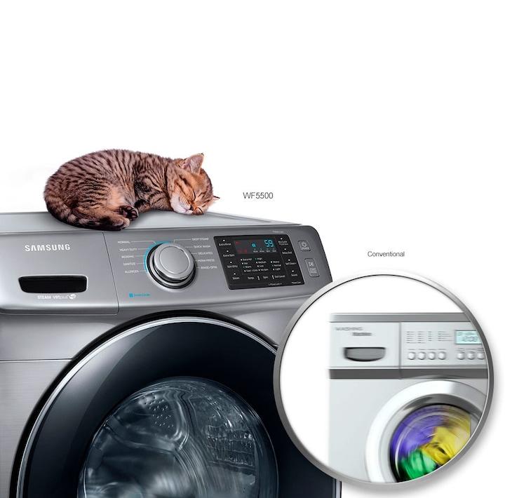 Samsung Wf5500 5 2 Cu Ft Front Load Washer Samsung Ca
