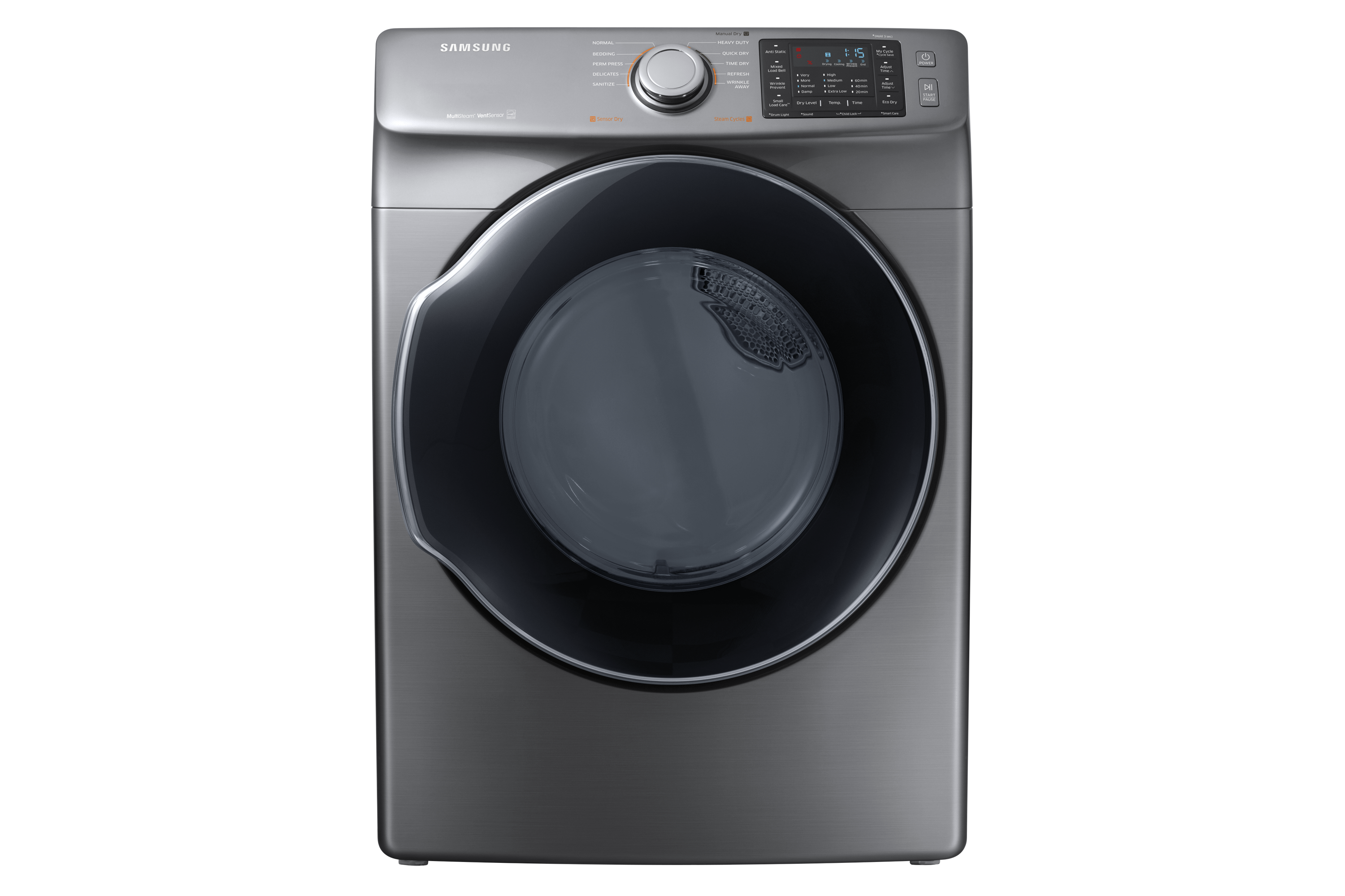 DVE45M5500P Frontload Electric Dryer with Steam, 7,5 cu.ft