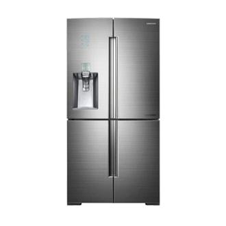 RF9900 - Réfrigérateur de 34pi³ à portes françaises, 4portes (acier inoxydable brossé et platine)