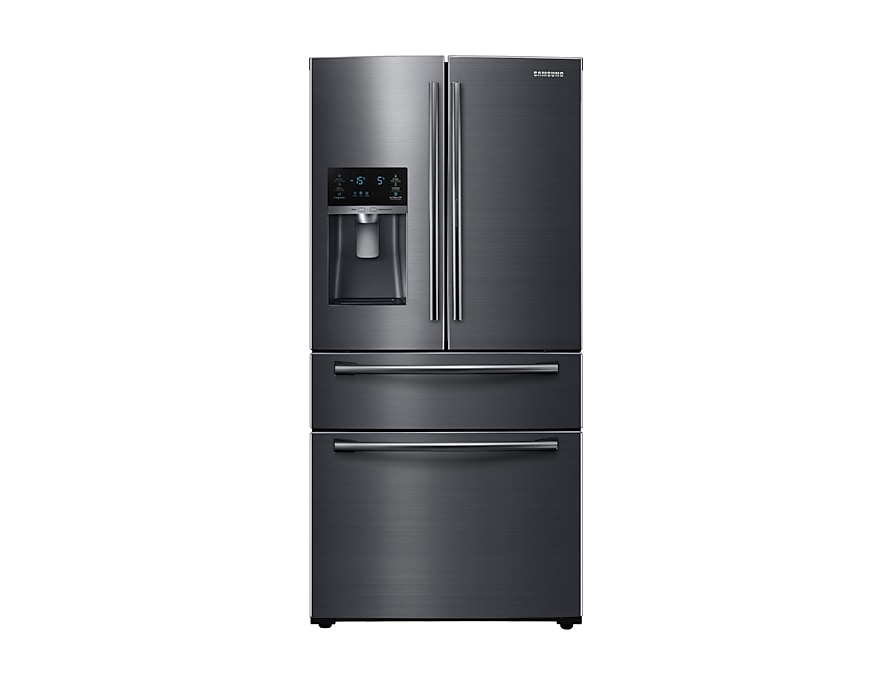 Rf25hmedbsg Black Stainless French Door Refrigerator With Twin