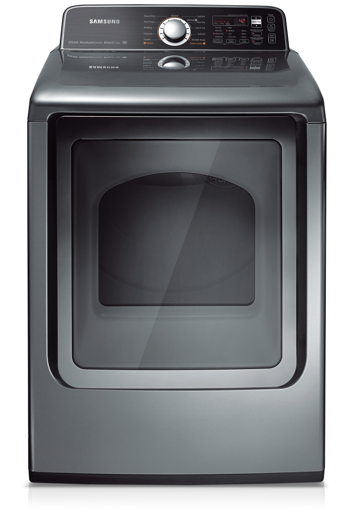 DV456GTHDSU 7.3 cu.ft King-Size Capacity Gas Top-Load Dryer (Stainless Platinum)