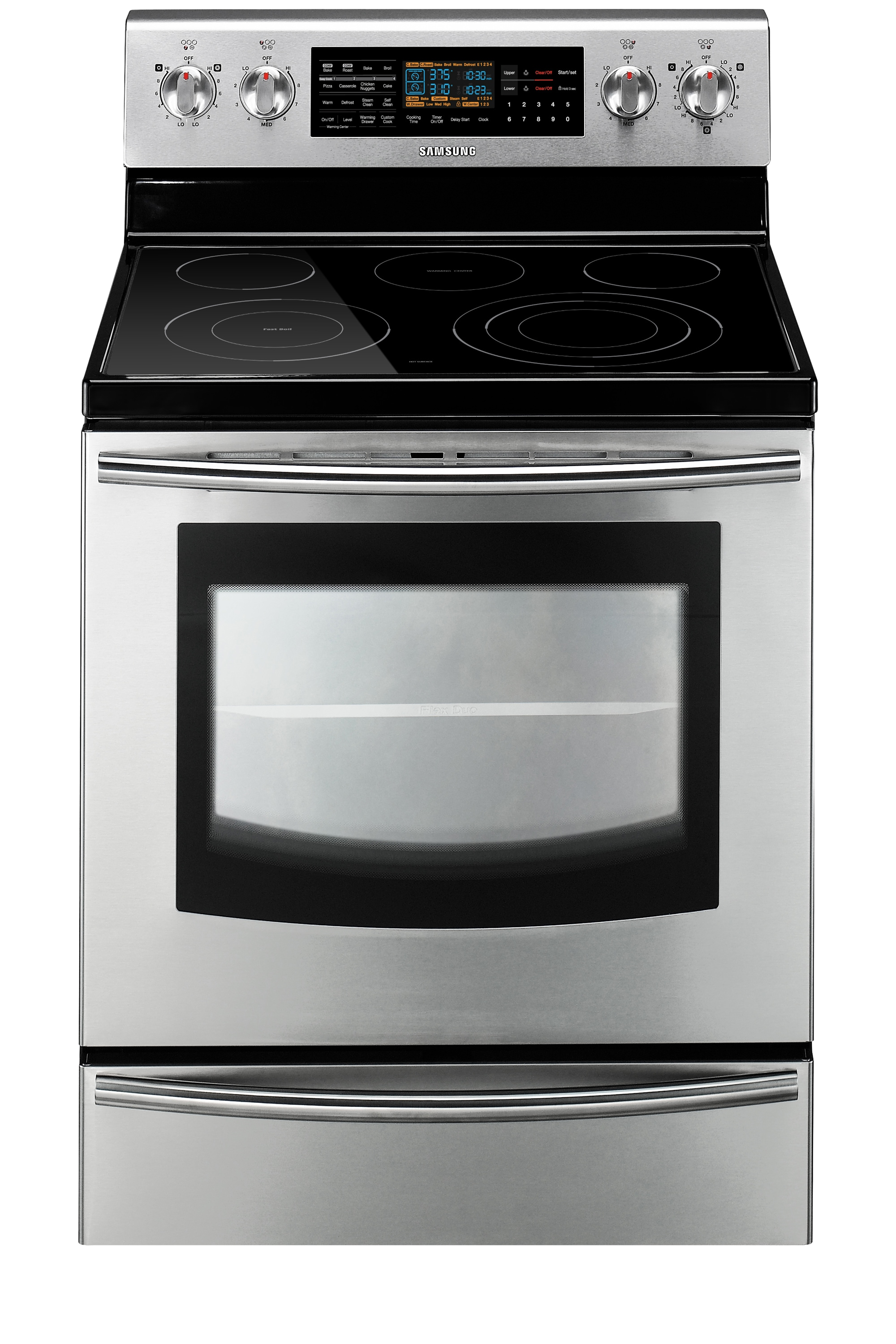 FLEX 5.9 cu.ft Electric Flex Duo™ Range (Stainless Steel)