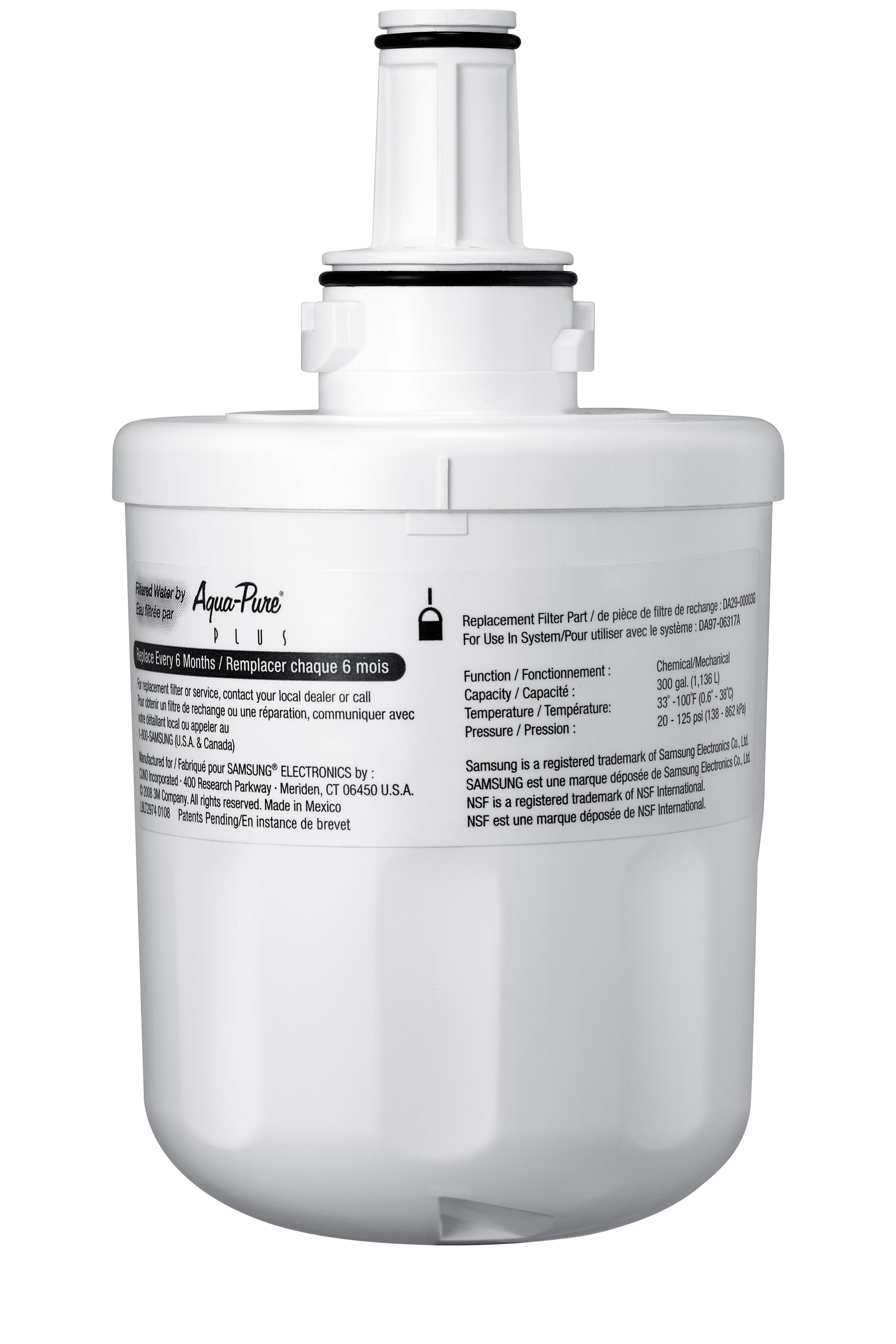 HAFCU1/XAA Side-by-Side & French Door Refrigerator Water Filter