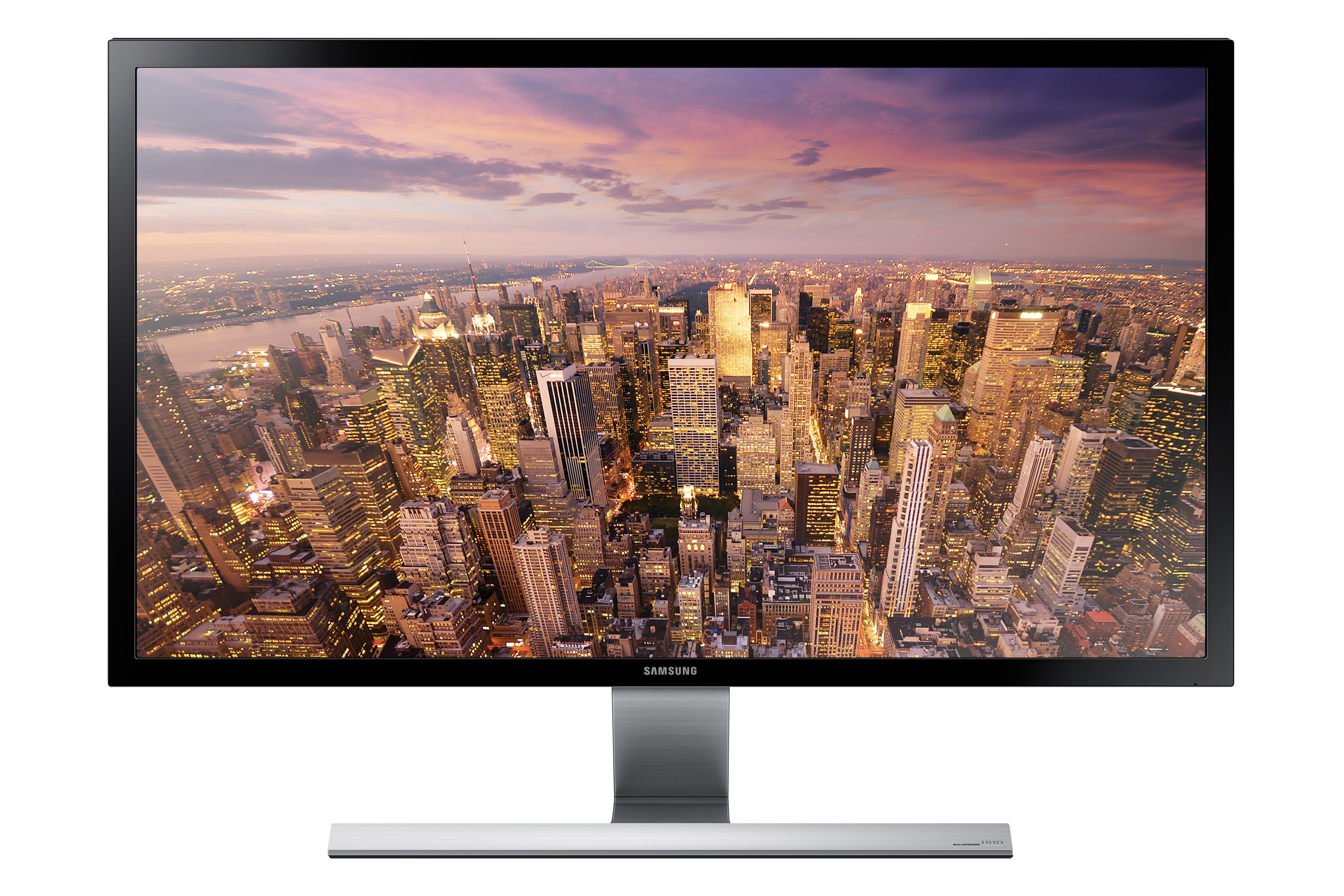 "28"" UHD monitor with premium metallic stand"