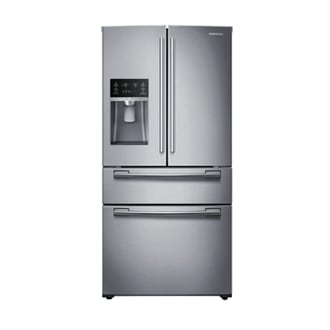 RF8000 25 cu.ft 4-Door French Door Refrigerator (Real Stainless)