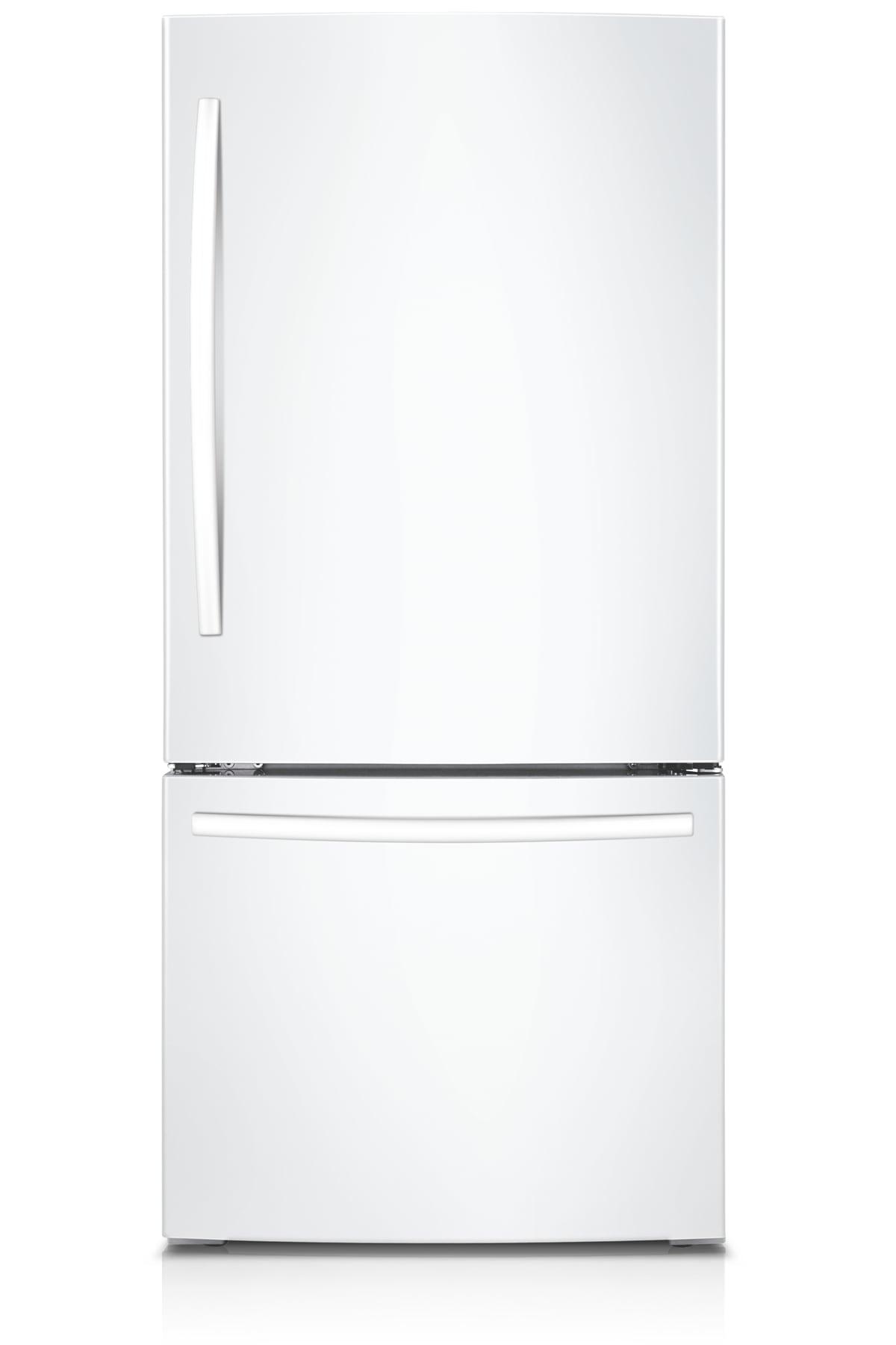 IBACI-BMF 21.6 cu.ft Bottom Mount Freezer Refrigerator (White)