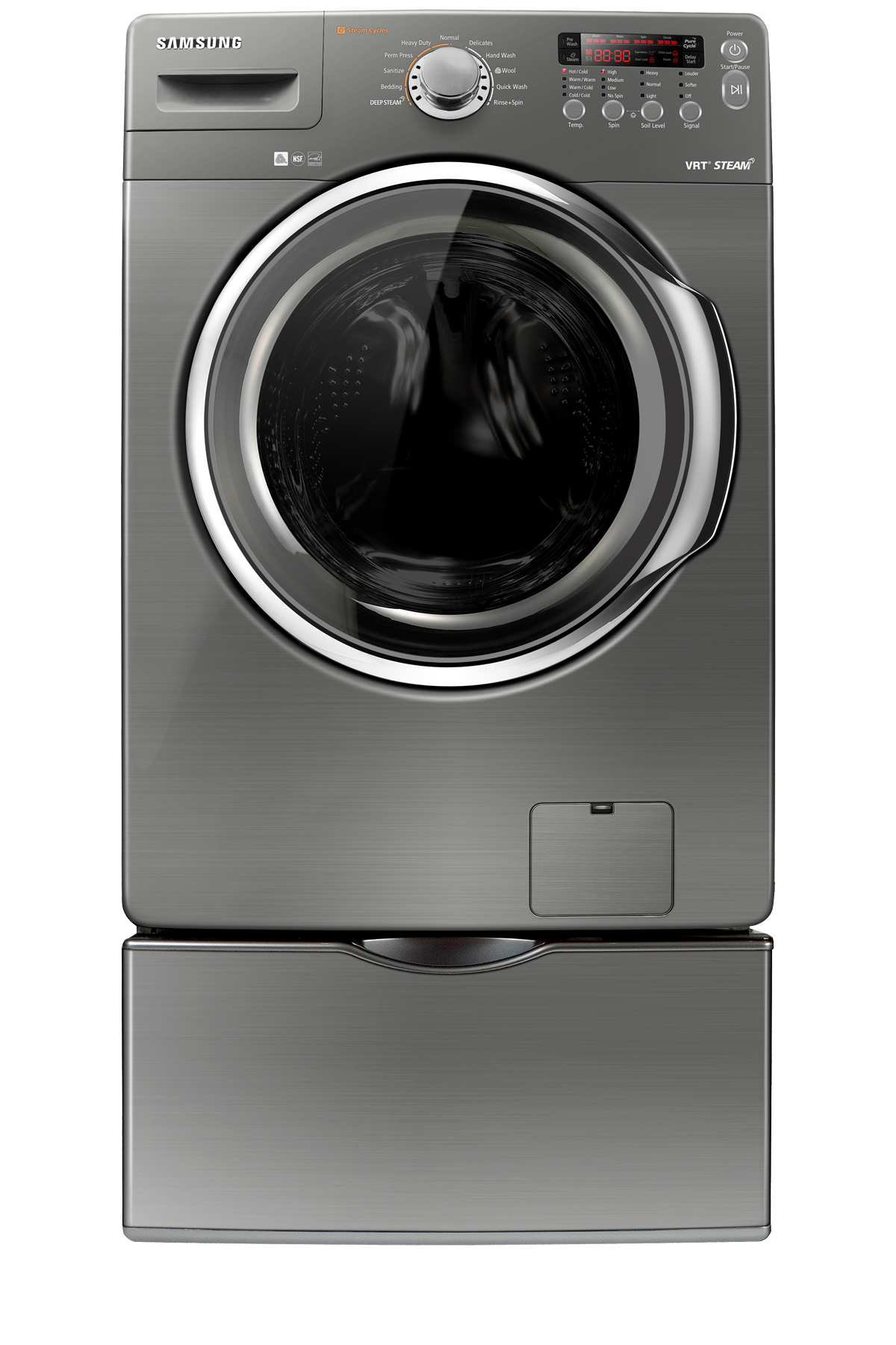 WF350ANP 4.3 cu. ft. Front Load Washer Stainless Platinum
