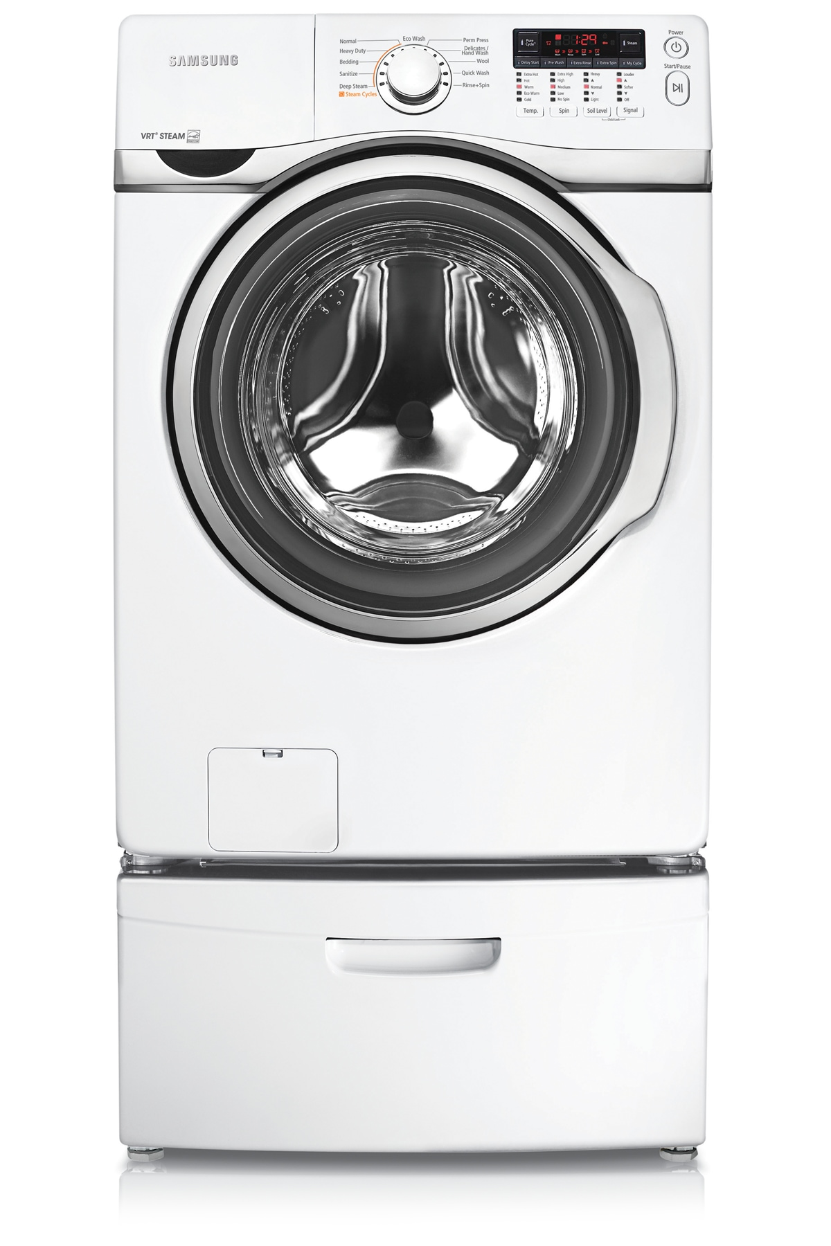 WF393BTPAWR 4.6 cu.ft Large Capacity Front-Load Washer (White)