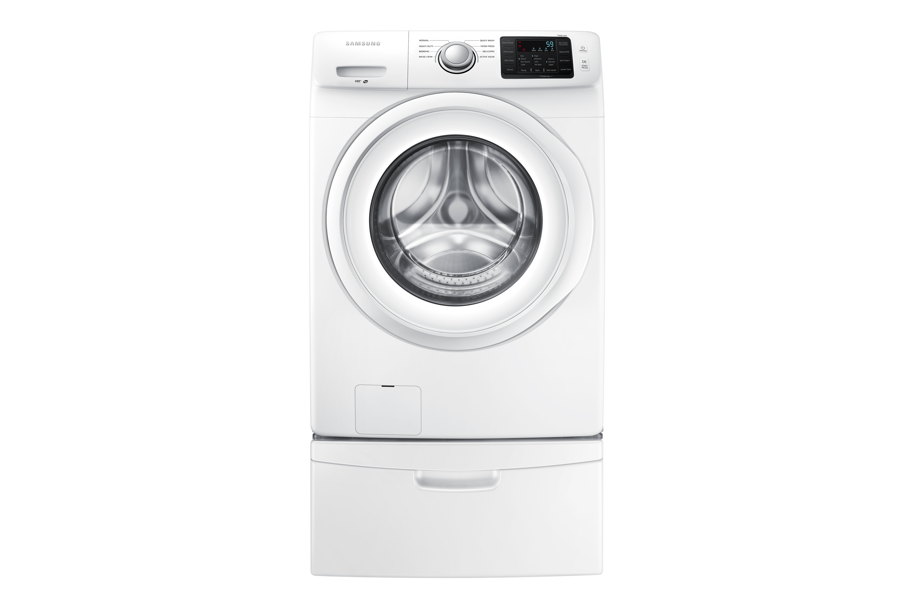 Samsung Wf42h5000aw Front Load Washer With Smart Care 4 8