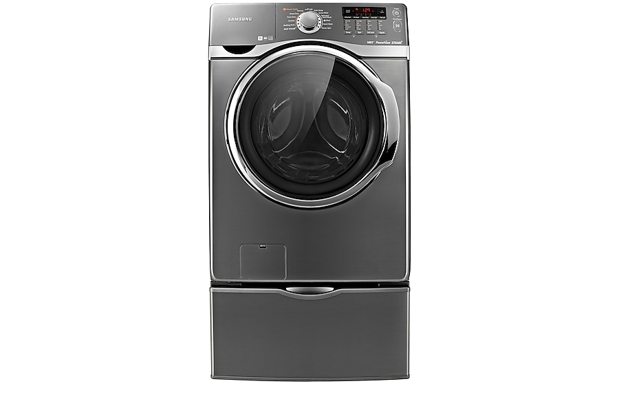 Wf431abp 4 5 Cu Ft Front Load Washer Stainless Platinum