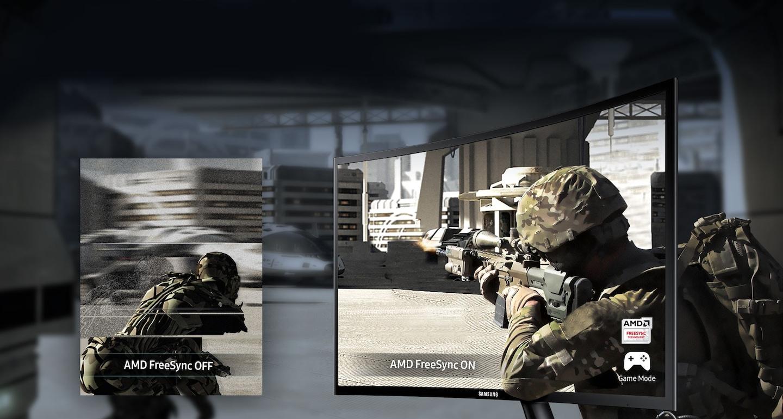 • AMD FreeSync: En synchronisant la fréquence de rafraîchissement de l'écran avec la fréquence d'image de façon dynamique, la technologie AMD FreeSync réduit les saccades et assure un jeu parfaitement fluide. • Mode Jeu: Le Mode Jeu optimise instantanément les couleurs et le contraste de l'écran pour le jeu, faisant en sorte que vous voyez chaque scène du jeu à son meilleur.