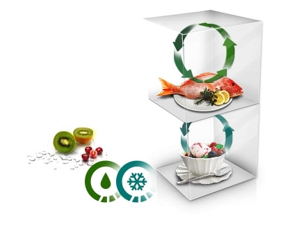 La conservation des aliments dans des conditions optimales commence avec la technologie Twin Cooling Plus™