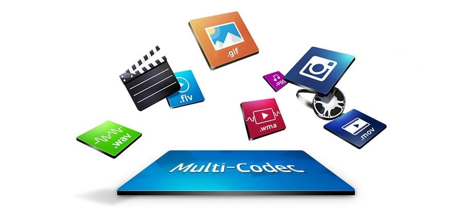 Greifen Sie auf Inhalte mit verschiedensten Codecs zu