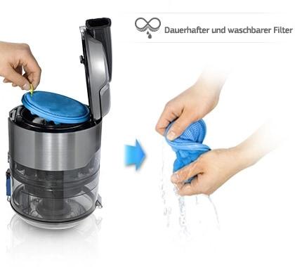 Einfach zu reinigender waschbarer Filter