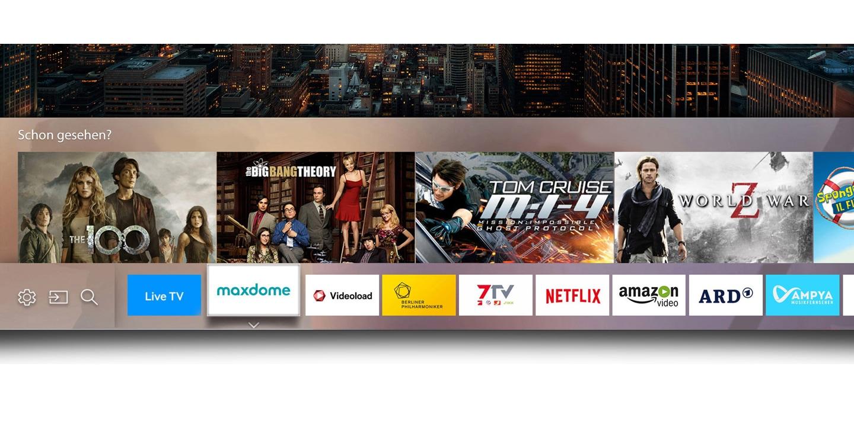 Die Smart Hub Oberfläche 'Eden' auf einem Samsung TV