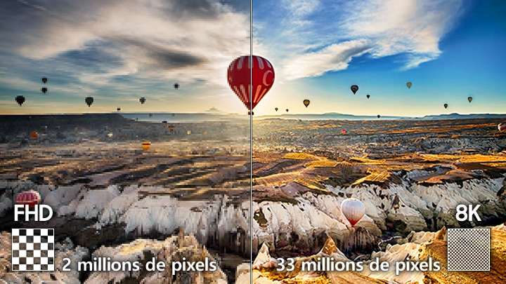 Spectacular 33-million-pixel resolution