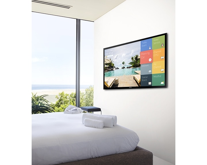 Enhance Guest Room Ambience with Samsung's HE470 Hospitality Display