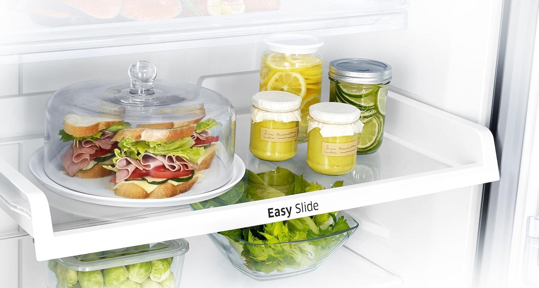 Es fácil buscar y encontrar los alimentos que están en la parte posterior