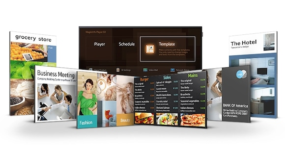 Easily manage digital signage with a simplified Home UI