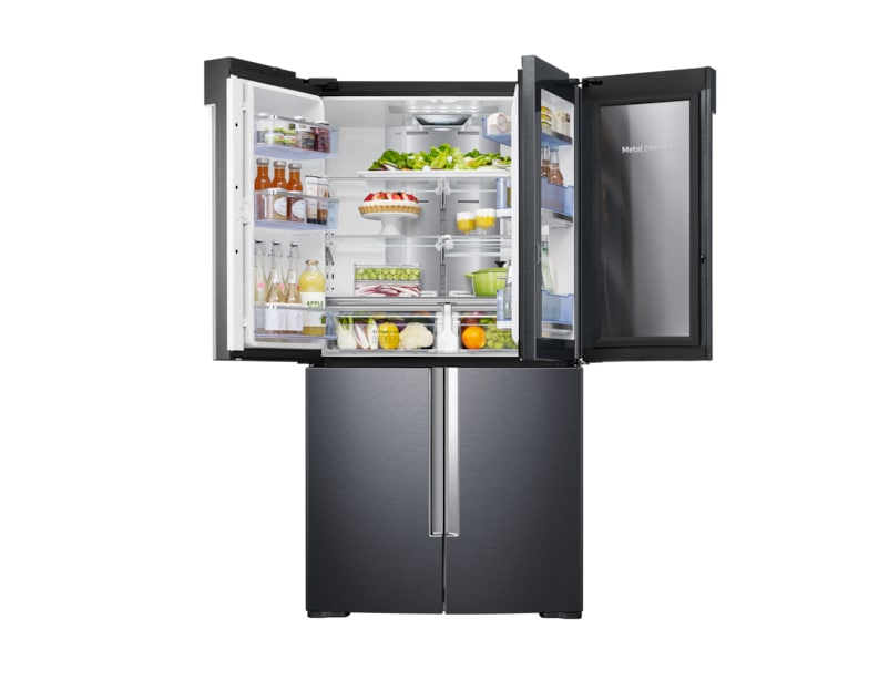 front-left-door-showcase-incase-half-open-with-food black