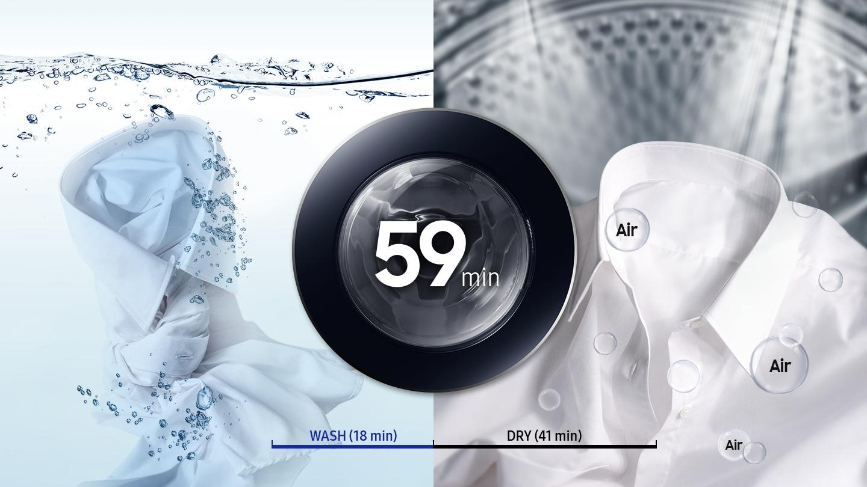 Lavado y secado de 59min