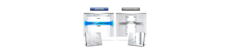Diseño simple para brindar más espacio para los alimentos