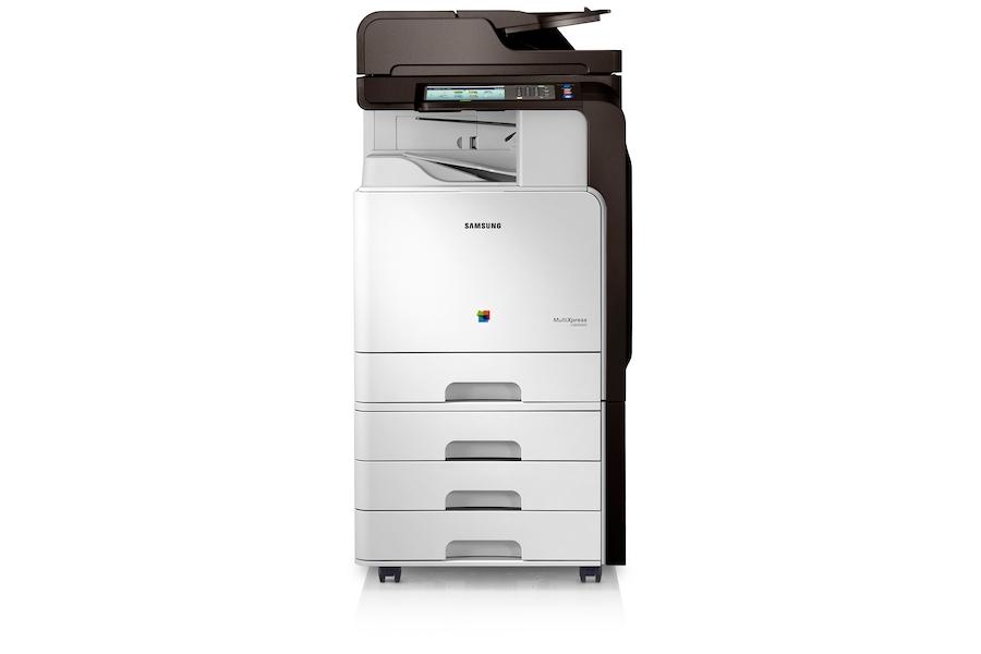 CLX-8640ND Barevná multifunkční tiskárna 38 stran/min  8640ND Zepředu Bílá