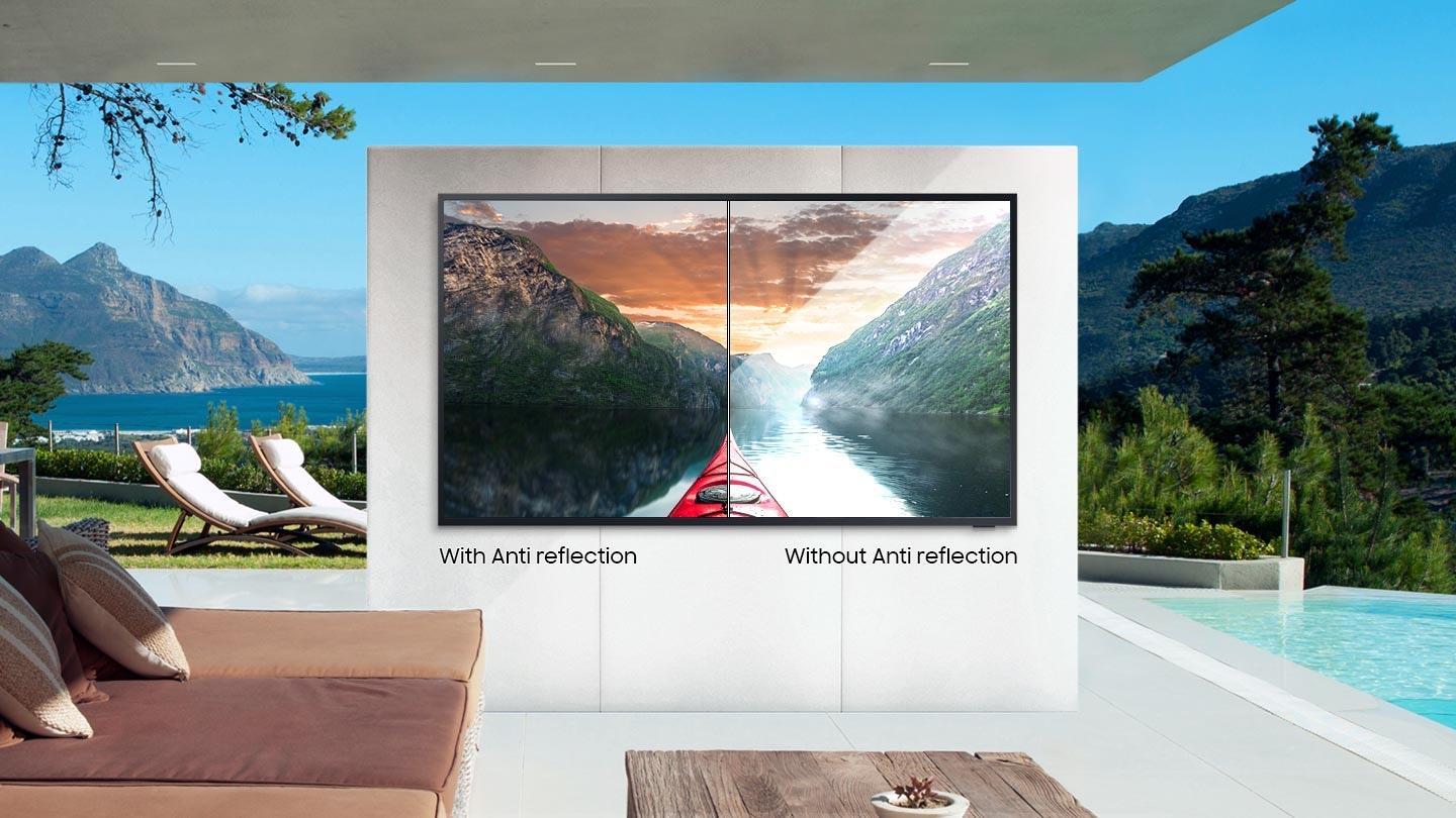 Bright and brilliant – 4K QLED outdoor TV
