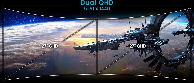 Dual QHD Display